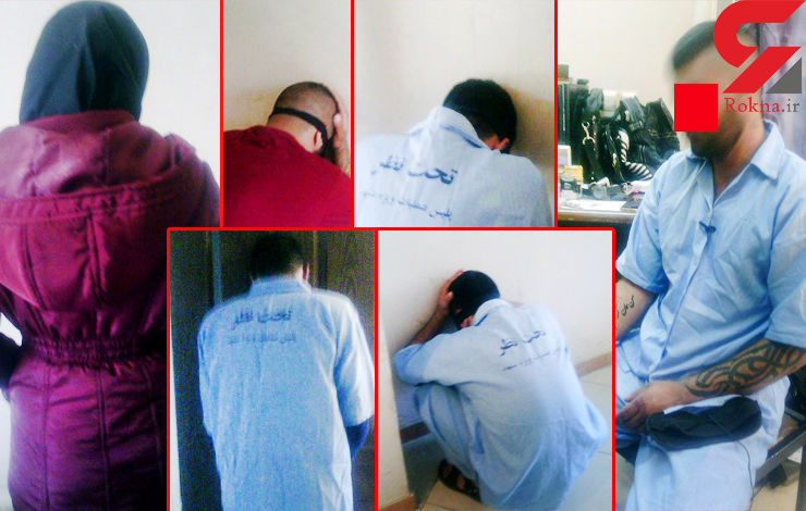 نوعروس فراری در خانه فساد مردان خشن زندانی بود / پلیس مشهد 5 زن ومرد مسلح را دستگیر کرد + عکس
