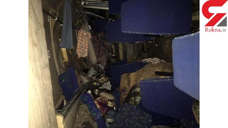 فیلم  هولناک از واژگونی مرگبار مینی بوس در جاده شمال + عکس