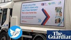 پوستر های ماشین حمل زباله در لندن جنجال به پا کرد! + عکس
