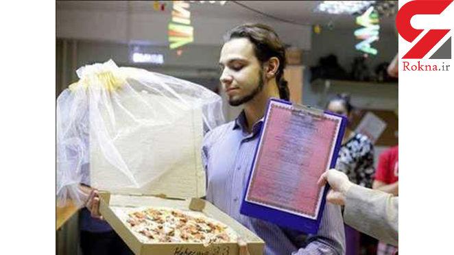 ازدواج رسمی پسر جوان با پیتزای مورد علاقه اش+عکس