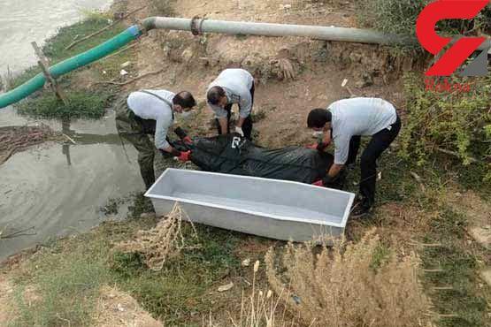 عکس جسد مرد آبادانی در ساحل رودخانه !