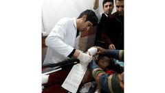دست کودک 5 ساله در کرمانشاه قطع شد+ عکس