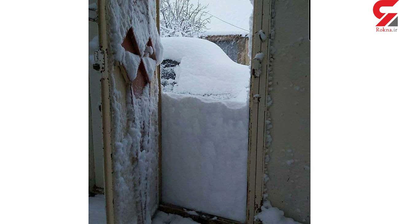 بارش برف شدید در شرق لرستان + عکس