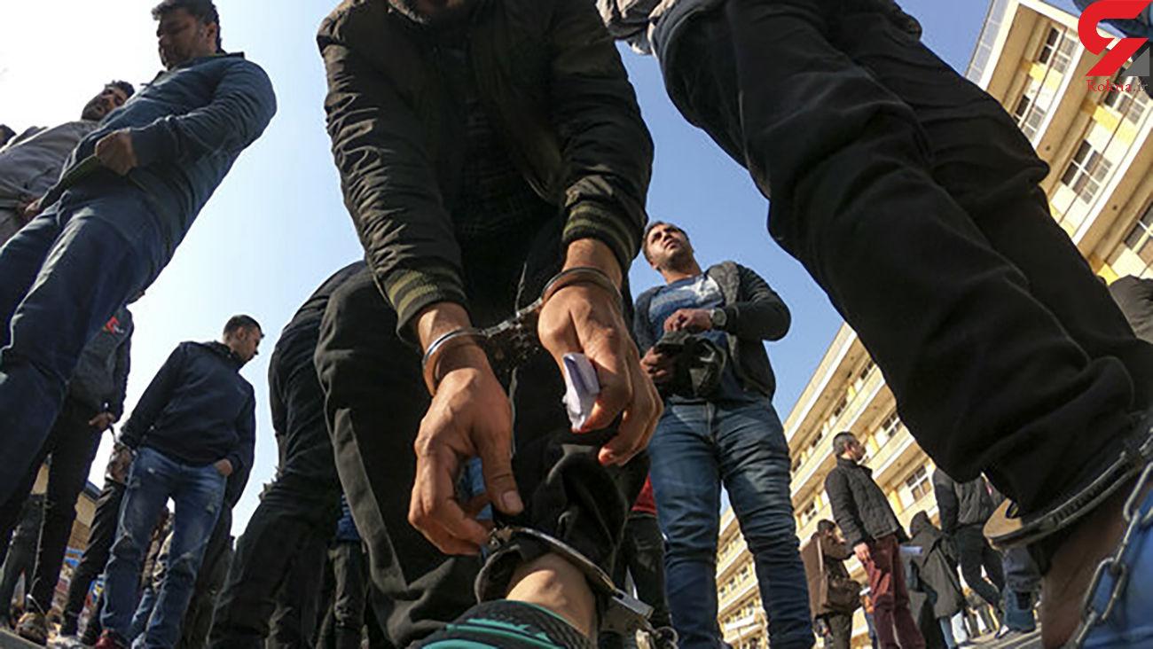 دستگیری اراذل و اوباش سابقهدار منطقه ملکآباد ساوجبلاغ