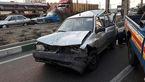 تصادف زنجیره ای در بزرگراه فتح تهران +عکس