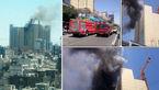 فوری / فیلمی وحشتناک از آتش سوزی  هتل بزرگی در مشهد / عملیات هنوز ادامه دارد + فیلم و عکس