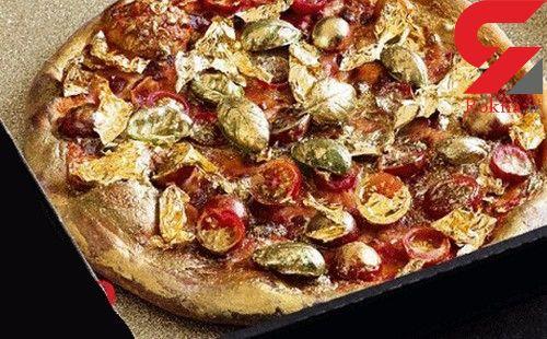 مشتریان ثروتمند این رستوران پیتزای طلا می خورند+عکس